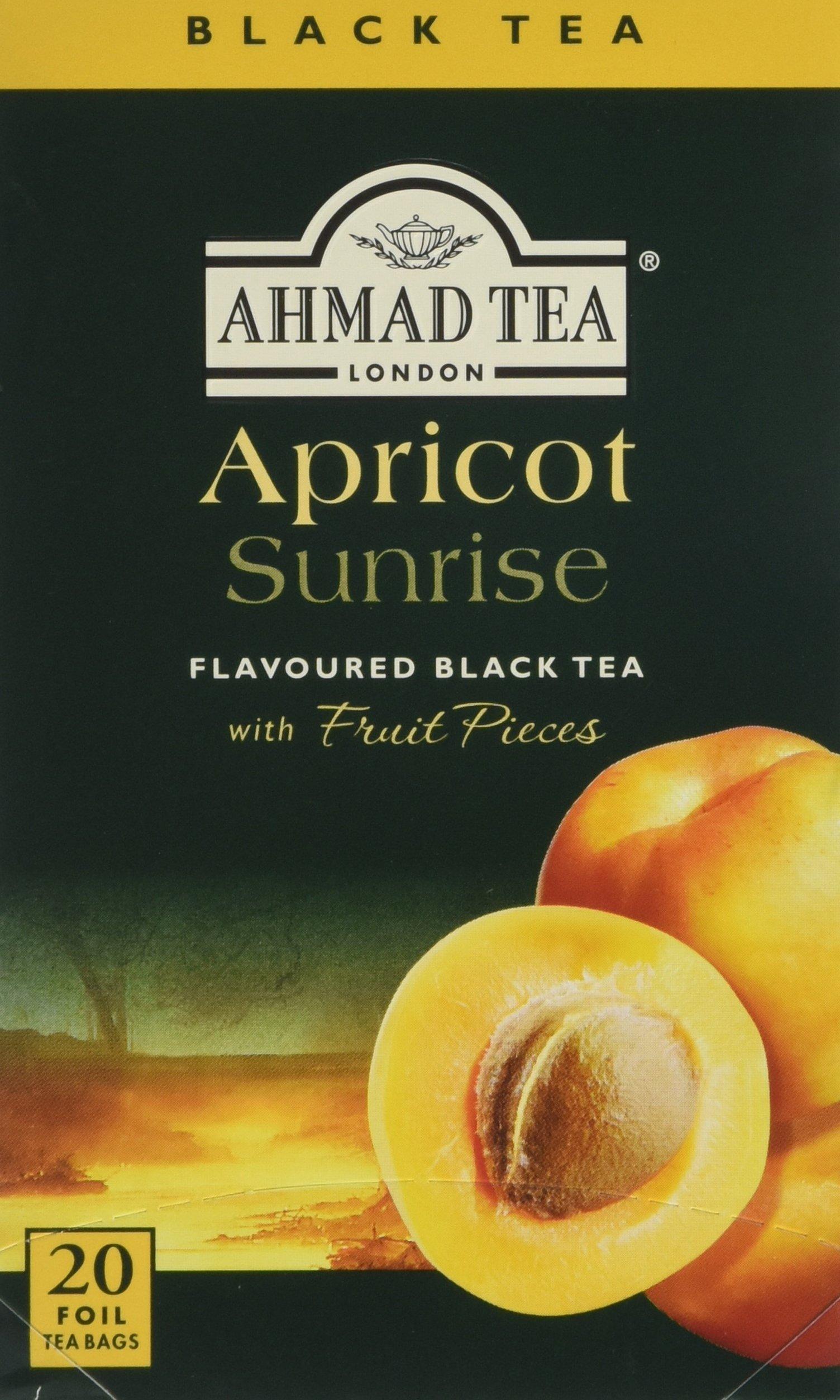Ahmad Tea Apricot Sunrise Fruit-Flavoured Black Tea - 20 Teabags