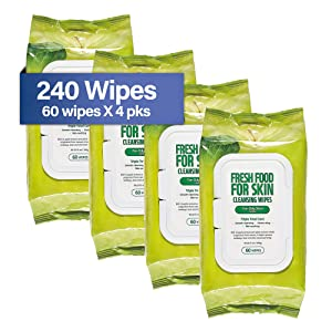 Refreshing Body Hand Face Wipes Cleansing Cloths 240 wipes alcohol-free wipes help to reduce the risk of cross contamination Restroom User friendly Hypoallergenic Fresh Scent (Apple/240 wipes)