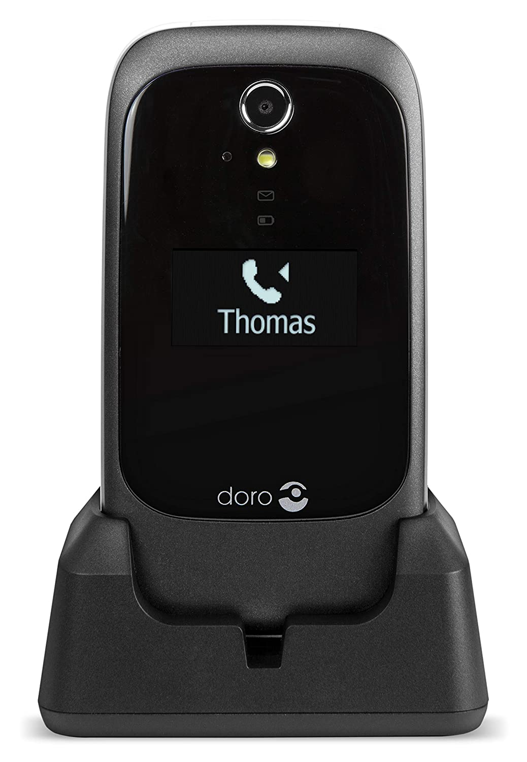 Doro 6530 Easy-to-Use Unlocked Feature Phone for 3G Networks with External  Display, GPS combined with SOS Button and Charging Cradle Included