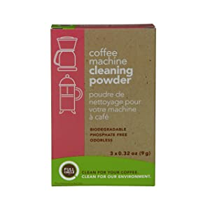 Full Circle Coffee Machine Cleaner - Cleaning Powder - 3 Single Use Packets - Safe On Keurig Delonghi Nespresso Ninja Hamilton Beach Mr Coffee Braun and More