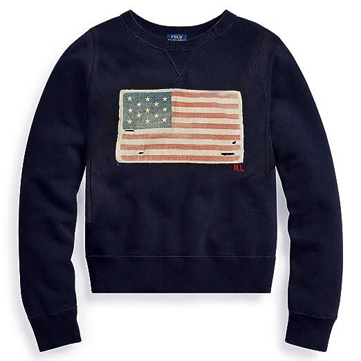 American Lauren Fleece Flag Sweatshirt Ralph Women's Polo Us 8P0kOnwX