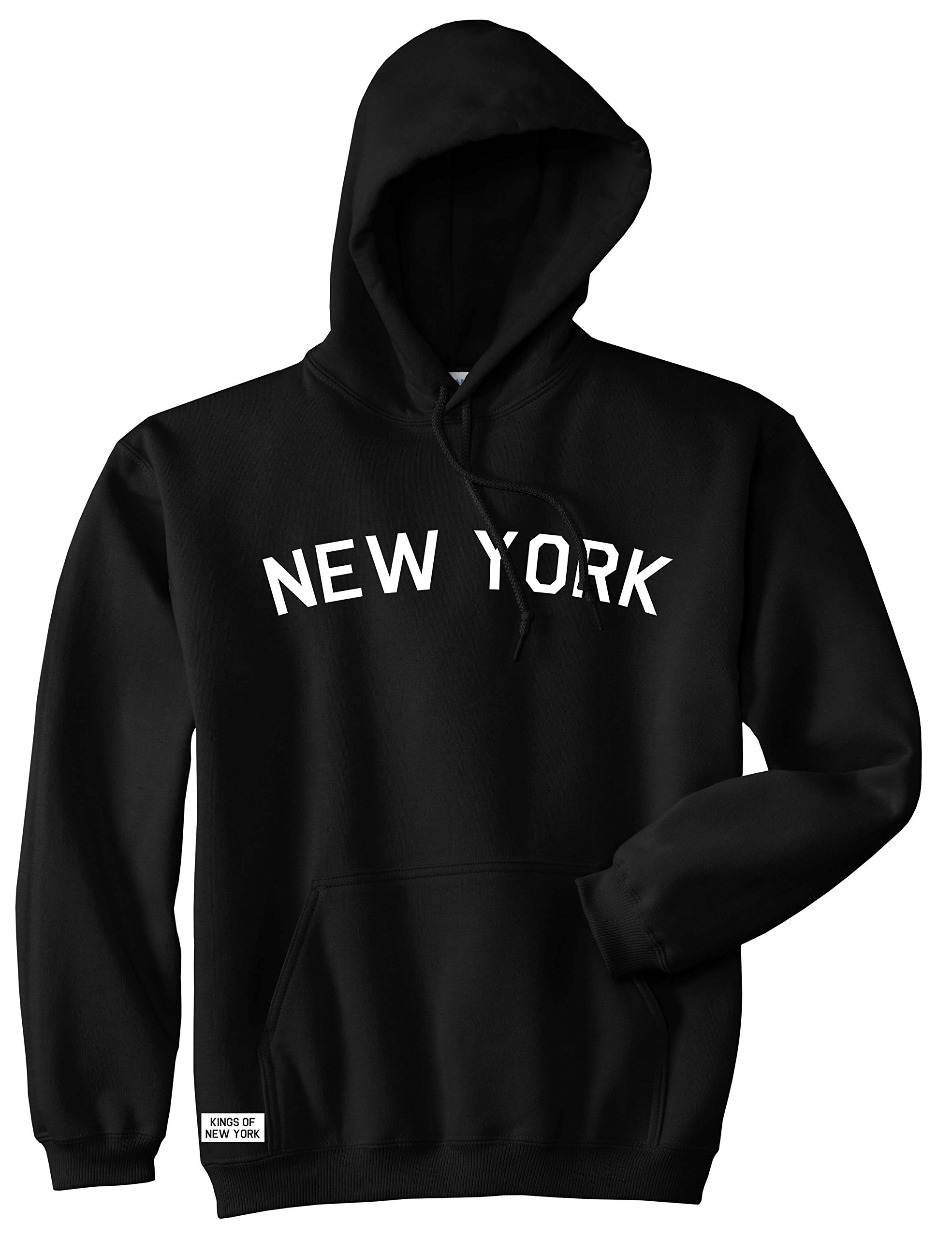 Kings Of NY New York Arch Chest NYC Manhattan Soho Uptown Pullover Hoody Sweatshirt Large Black