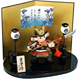 五月人形 陶器 錦彩若武者(なぎなた) ポストカード特典付オリジナル五月人形 ミニ 兜 兜飾り 幅13.5cm