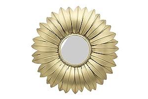One Decor Sunflower Gold Wall Mirror Frame