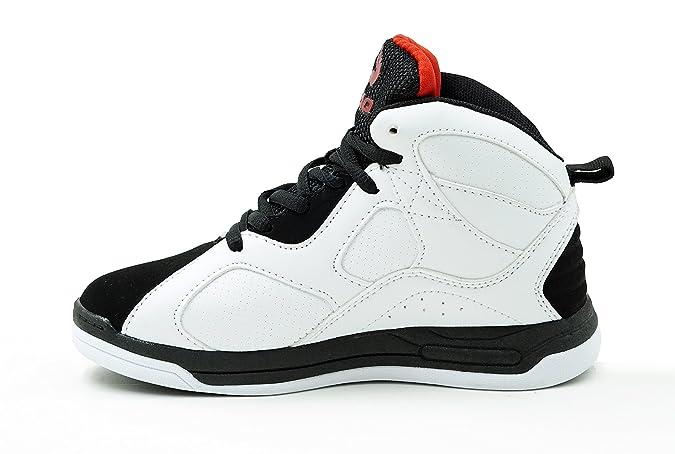Amazon.com | Shaq Kids Shoes Altitude Athletic Sneaker, Black/White | Sneakers