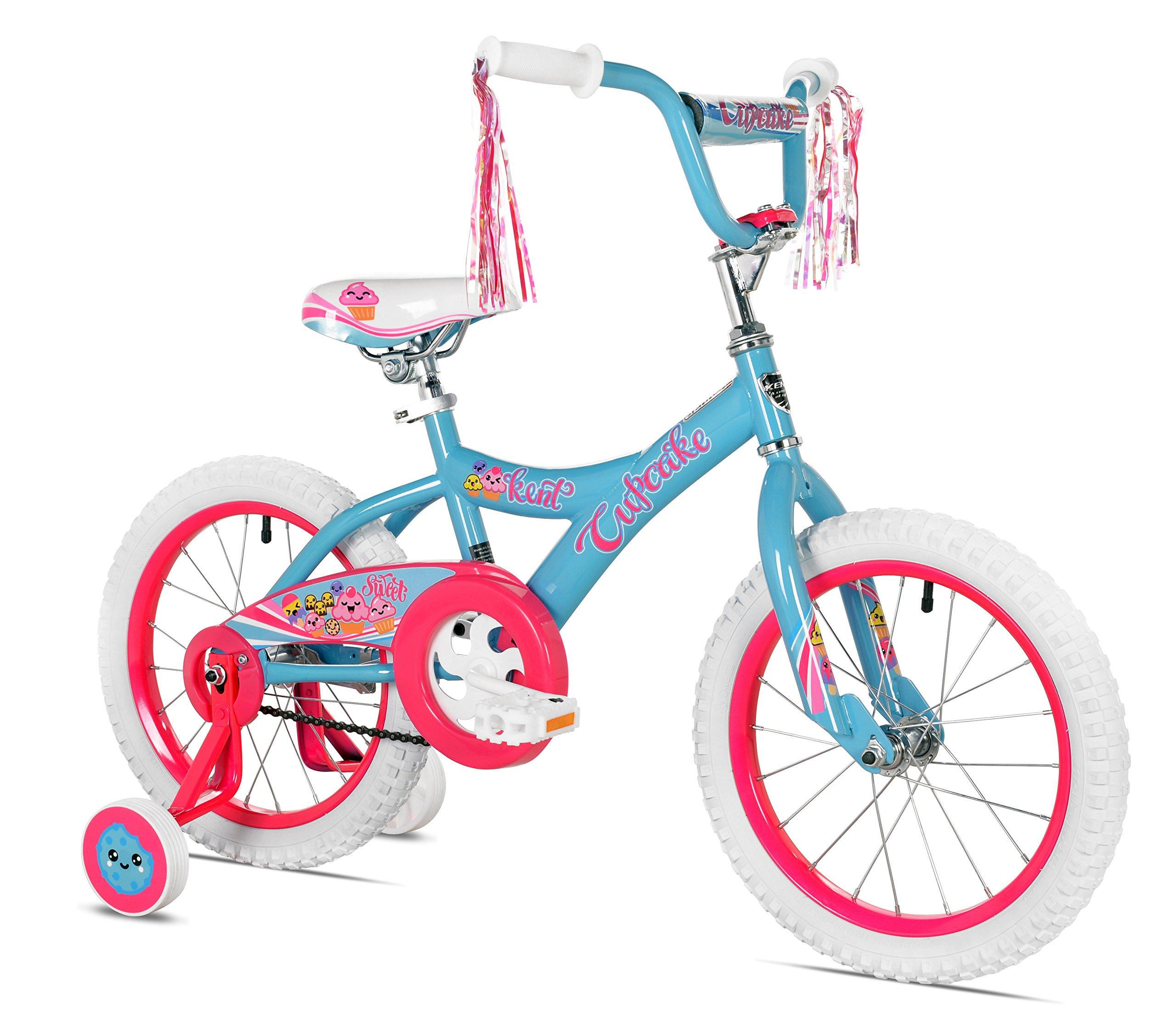 KENT Girls Cupcake Bike, 16'', Blue/Hot Pink by KENT