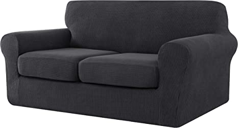 Armchair Loveseat Replacement Coat for Ektorp Universal Sleeper, CHUN YI Stretch Sofa Slipcover Separate Cushion Couch Cover