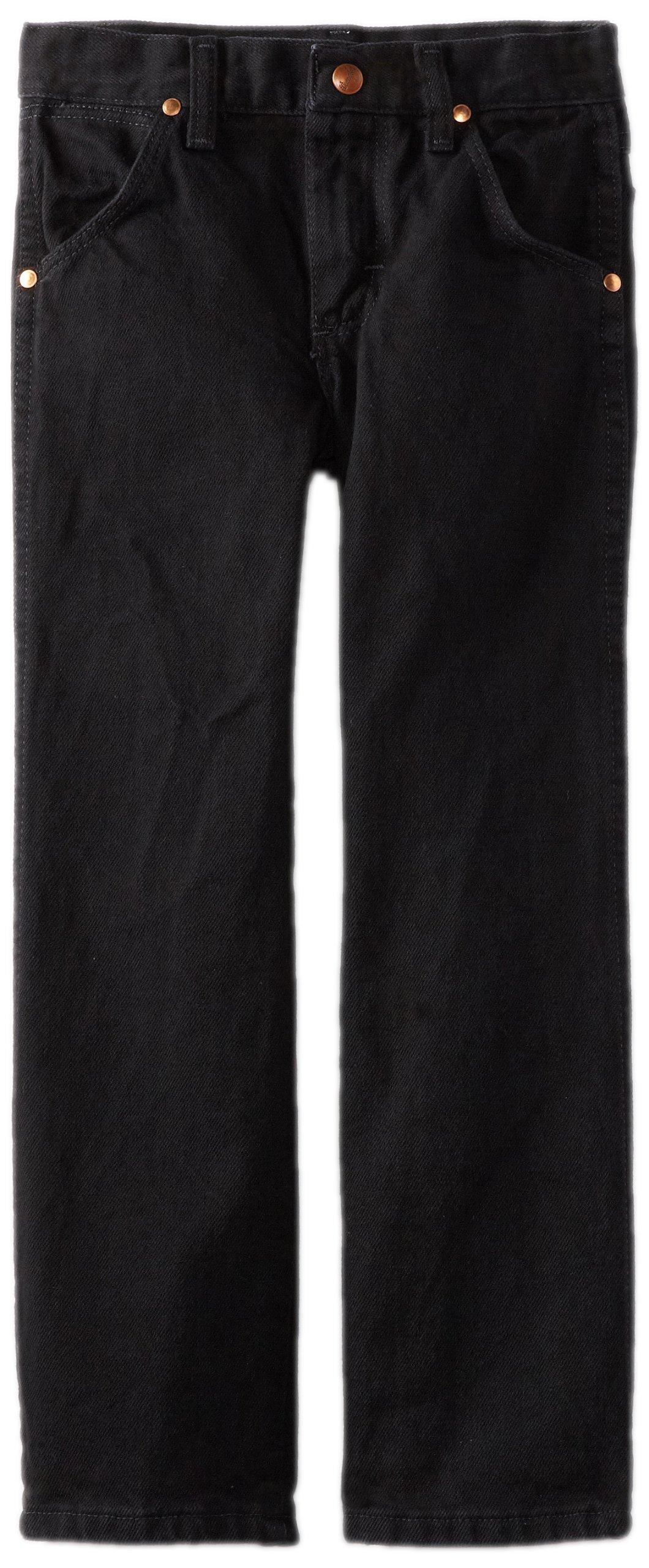 Wrangler Little Boys' Original ProRodeo Jeans, Overdyed Black Denim, 3T Slim