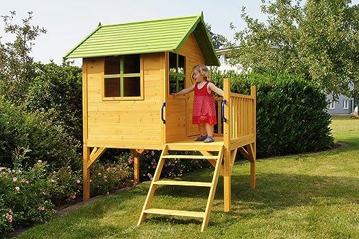 Animalmarketonline - Casa de juegos para niños de jardín en madera, modelo «Matilde»: Amazon.es: Hogar