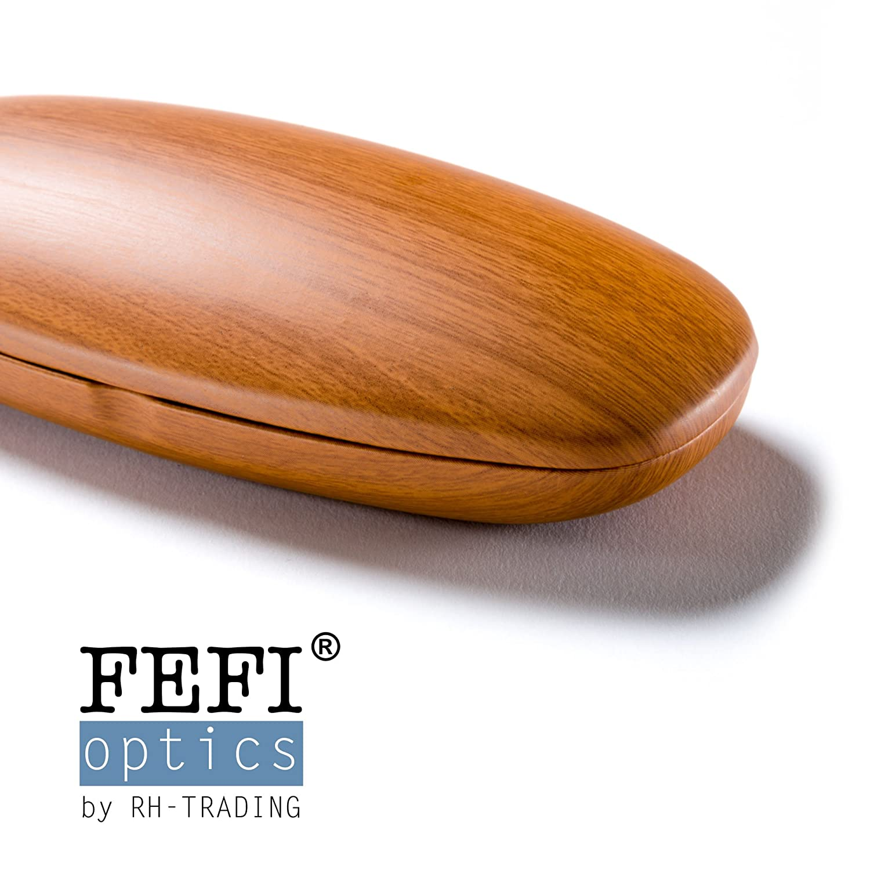 FEFI Hardcase Brillenetui in sch/öner Holz-Optik