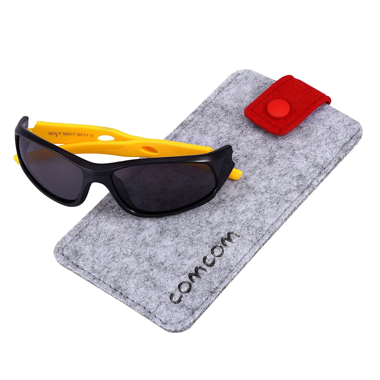 Pink,Black Polarized Lens SRK816 SEEKWAY Polarized Kids Sunglasses For Boys Girls Child Rubber Flexible frame Age 3