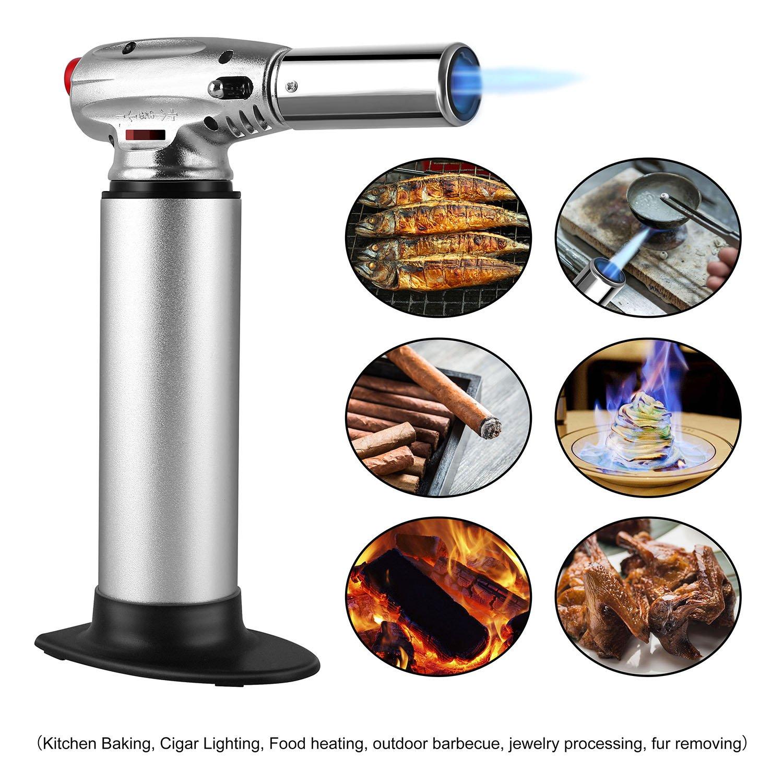 FIXKIT Bruciatore di Cucina,Temperatura della fiamma fino a 1300 /° C Argento