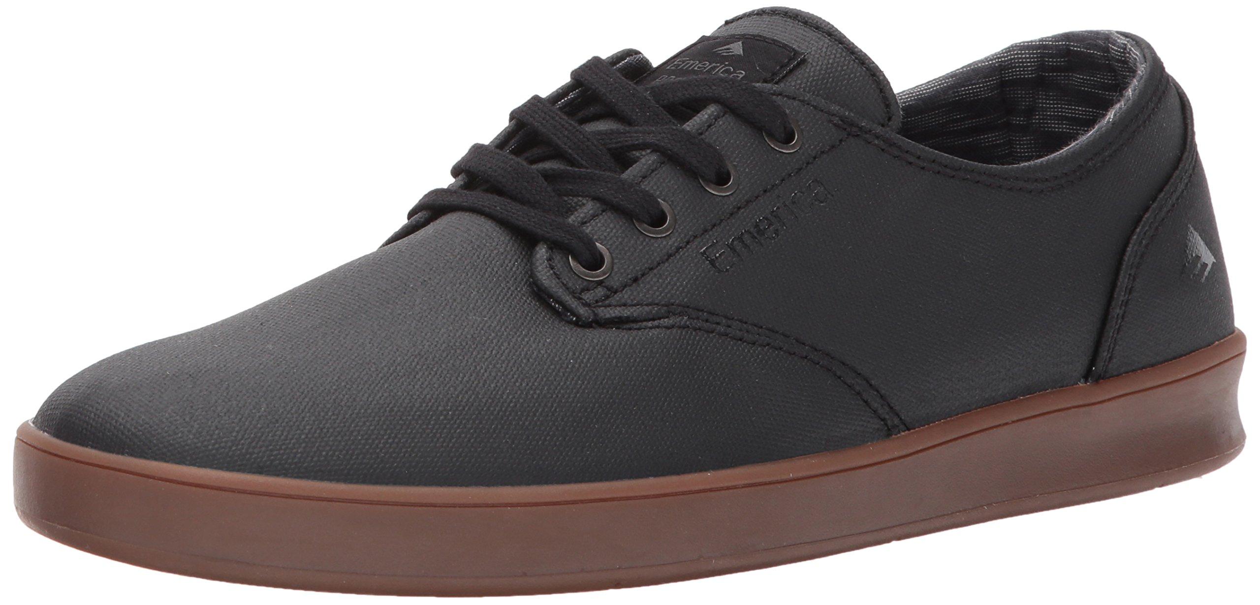 Emerica Men's The Romero Laced Skate Shoe, Black/Gum/Dark Grey, 8.5 Medium US