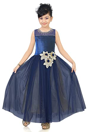 Kid Indian Bollywood Ethnic Party Long Frock for Girls (8 - 9 Year)
