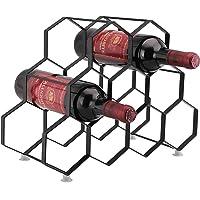 Kitchenista 9 Porte-bouteille porte-bouteille - Porte-bouteille sur pied libre - Design contemporain unique Aucun assortiment requis