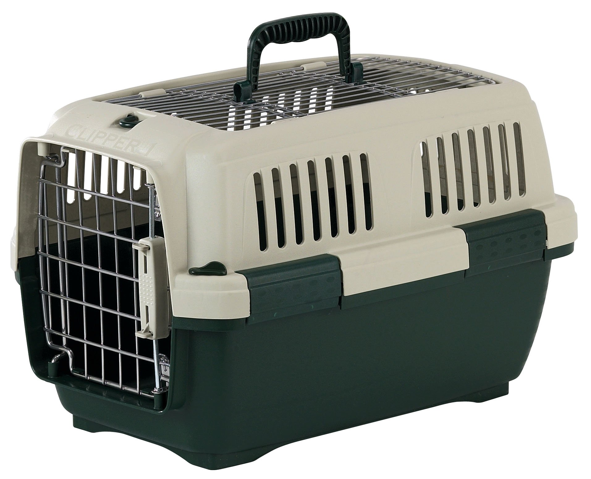 Marchioro Clipper Aran 2 Pet Carrier, 22.25-inches, Tan/Green
