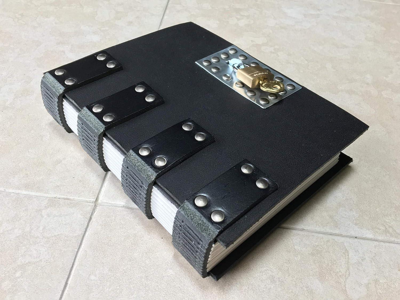 Amazon.com: Black Steampunk Ninja Goth Lockable Leather ...