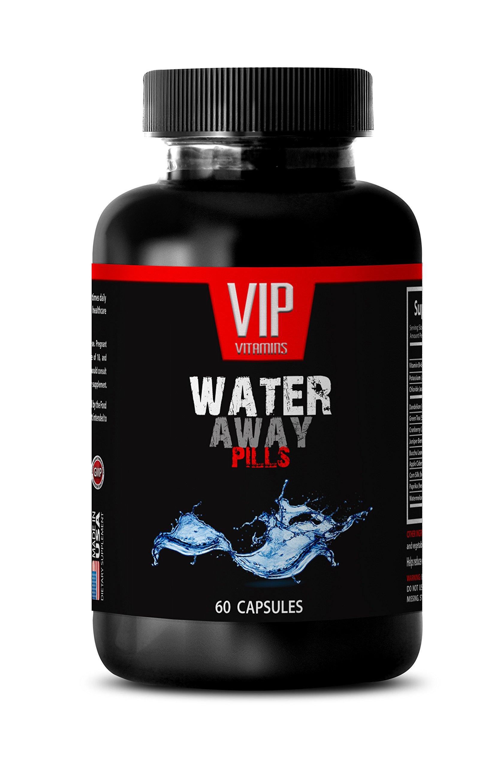 Urinary tract health - WATER AWAY DIURETIC PILLS - Watermelon, Dandelion, Paprika, Potassium - 1 Bottle 60 Capsules by VIP VITAMINS