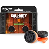 KontrolFreek Call of Duty: Black Ops 4 for Xbox One Controller | Performance Thumbsticks | 2 High-Rise | Black/Orange