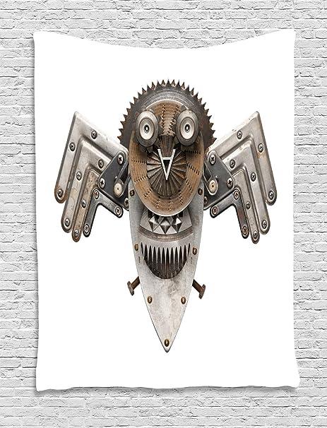 ABAKUHAUS Industrial Tapiz de Pared, Figura Owl, para el ...