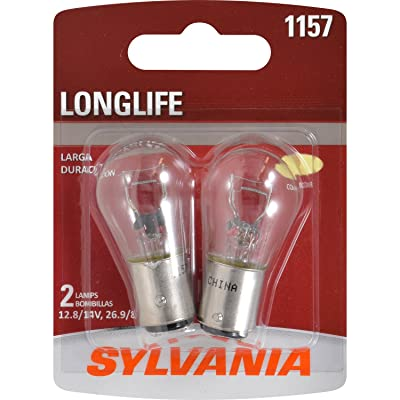 SYLVANIA - 1157 Long Life Miniature - Bulb, Ideal for Daytime Running Lights (DRL) and Back-Up/Reverse Lights (Contains 2 Bulbs): Automotive