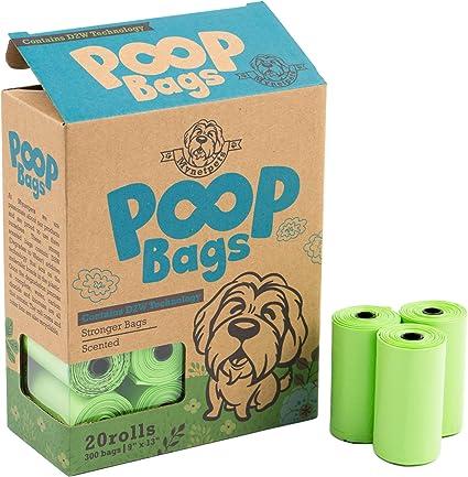 Mynetpets – Bolsas para heces de perro biodegradables, paquete de ...