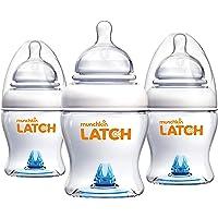 Munchkin Latch Anti-Colic Baby Bottle with Ultra Flexible Breast-like Nipple, BPA Free, 4 Ounce, 3 Pack , White