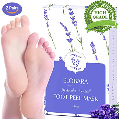 Elobara Foot Peel Mask, Exfoliating Calluses and Dead Skin for Soft Baby  Feet, 2 Pairs, Repair Rough Heels