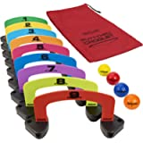 GoSports Putt-Thru Croquet Putting Game - Includes 9 Gates, 4 Golf Balls and Tote Bag -Play at Home, the Office or On…