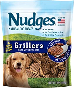 Nudges Natural Dog Treats Grillers Burgers, 16 oz