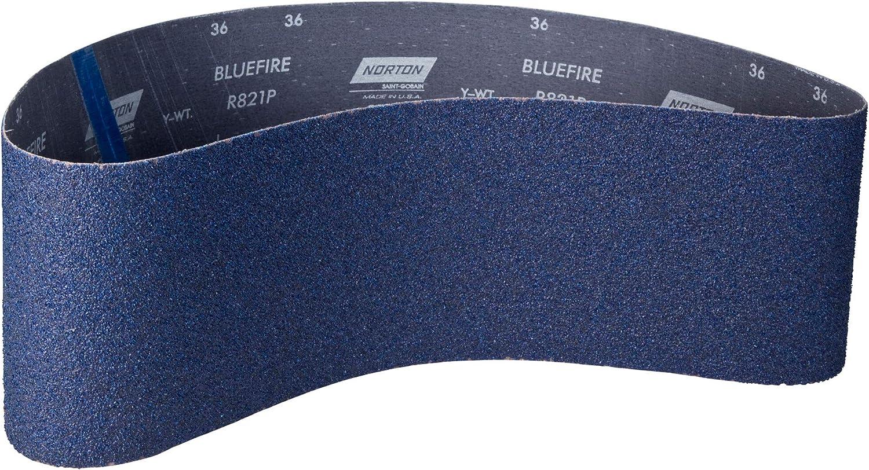 Norton 2-1//2 x 60 Size,36 Grit,Norzon Zirconia,Aluminum Oxide,Portable File Belts
