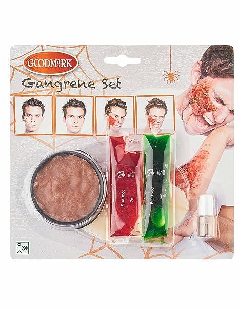 Kit Trucco per ferita in cancrena Adulto halloweenKit Trucco per ferita in  cancrena Adulto Halloween Taglia 455b175f7715