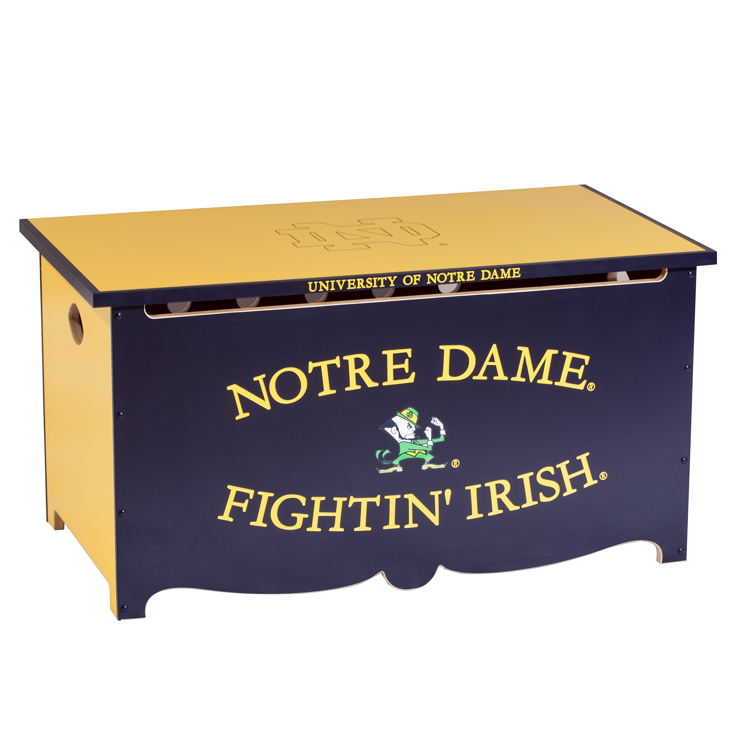 Notre Dame Toy Chest, Toy Box, Wooden Toy Chest
