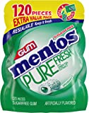 Mentos Pure Fresh Sugar-Free Chewing Gum with Xylitol, Spearmint, 120 Piece Bulk Resealable Bag (Pack of 1)