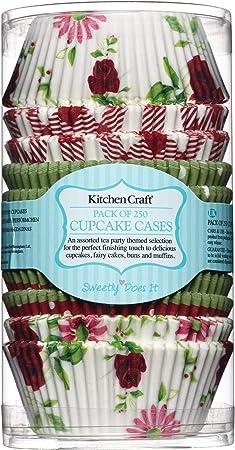 Confezione di 250 pirottini di Carta con Motivi Assortiti Kitchen Craft Sweetly Does It Ideali per Feste