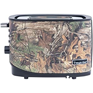 Magic Chef MCL2STRT 2-Slice Toaster 11.4X 6.8X 7.4, Camouflage