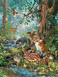 Woodland Forest Friends 300 Piece Jigsaw Puzzle by SunsOut