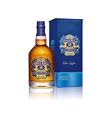 ac81f3201 Chivas Regal 18 Year Old Gold Signature Blended Scotch Whisky, 70 cl:  Amazon.co.uk: Grocery