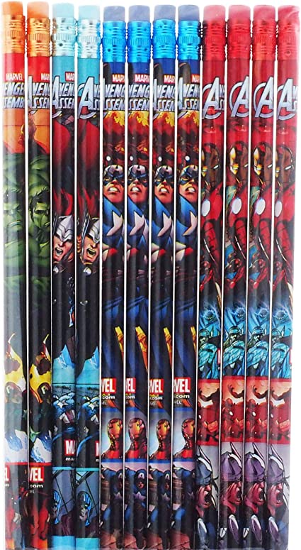 Marvel Avengers 12 Wood Pencils Pack: Amazon.es: Oficina y papelería