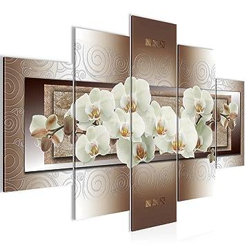 Amazon.de: Bilder Blumen Orchidee Wandbild 150 x 100 cm Vlies ...