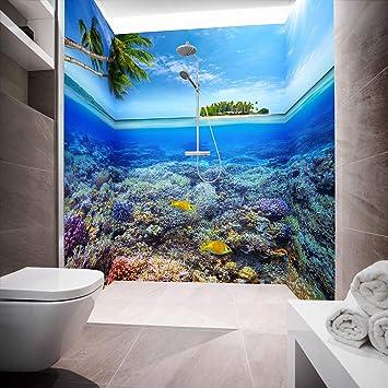 Mampara de ducha de aluminio compuesta como placa individual o juego de placas para ducha de esquina corte a medida – Diseño de Honululu Sealife: Amazon.es: Bricolaje y herramientas