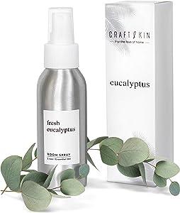 Craft & Kin Eucalyptus Room Spray, Eucalyptus Essential Oil Spray Natural Essential Oil Spray for Room, Linen Spray, Pillow Mist and Sleep Spray, Eucalyptus Spray for Sleep and Relaxation - (3.4oz)