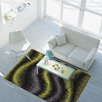 Ayshaggy Teppich Shaggy Design Hochflor Langflor Mit Wellen Muster Für  Wohnzimmer/Schlafzimmer In