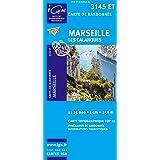 Top25 3145ET ~ Marseille, Les Calanques carte de randonnée avec une règle graduée gratuite