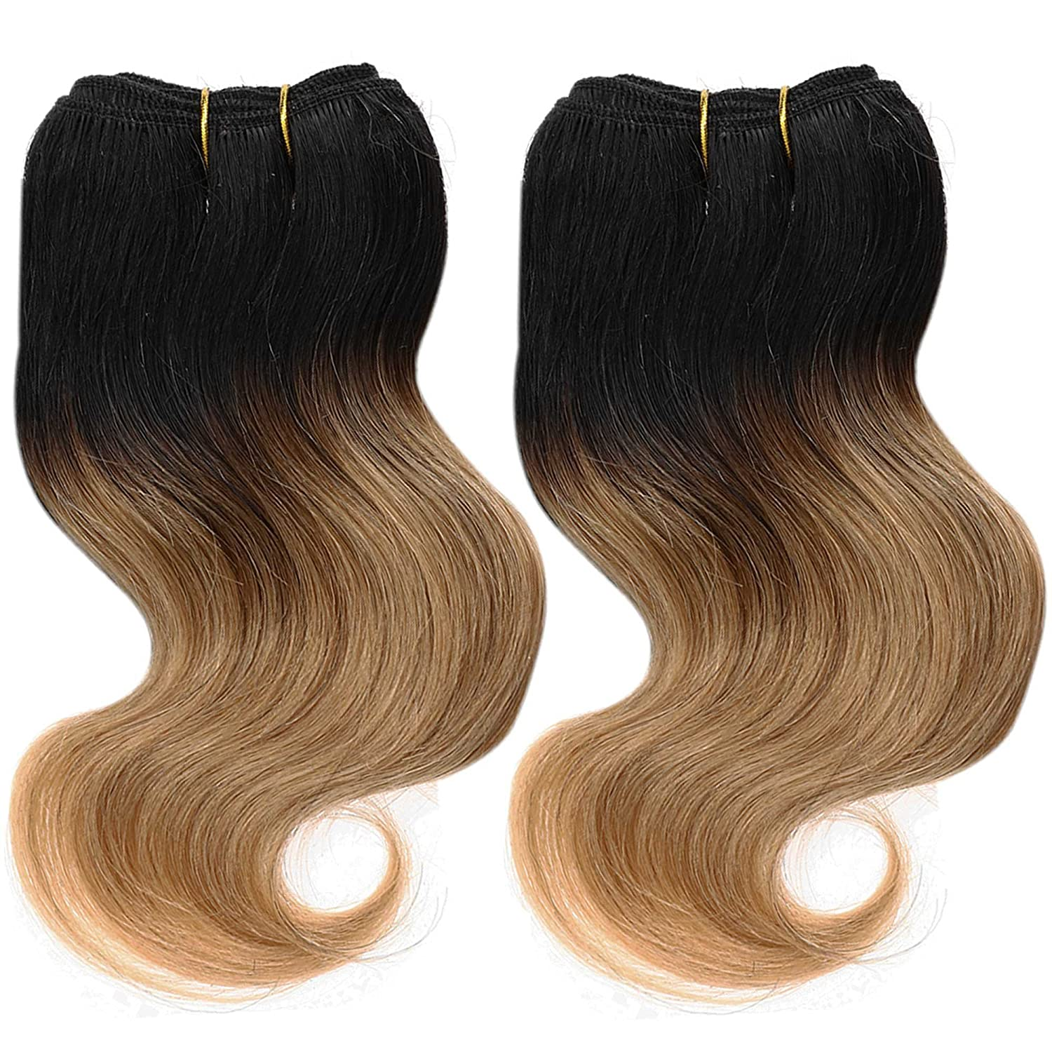 Emmet Brazilian Hair Extensions Ombre Colors Virgin Hair Can Be Dyed