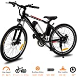 Tomasar Power Electric Bike with Removable Lithium-Ion Battery, 25 inch Wheel Cyclocross Bike