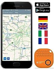 musegear® localizzatore Chiavi Bluetooth - Volume 3 Volte più Potente -Colore Arancio - Key Finder - Portafoglio Telefono