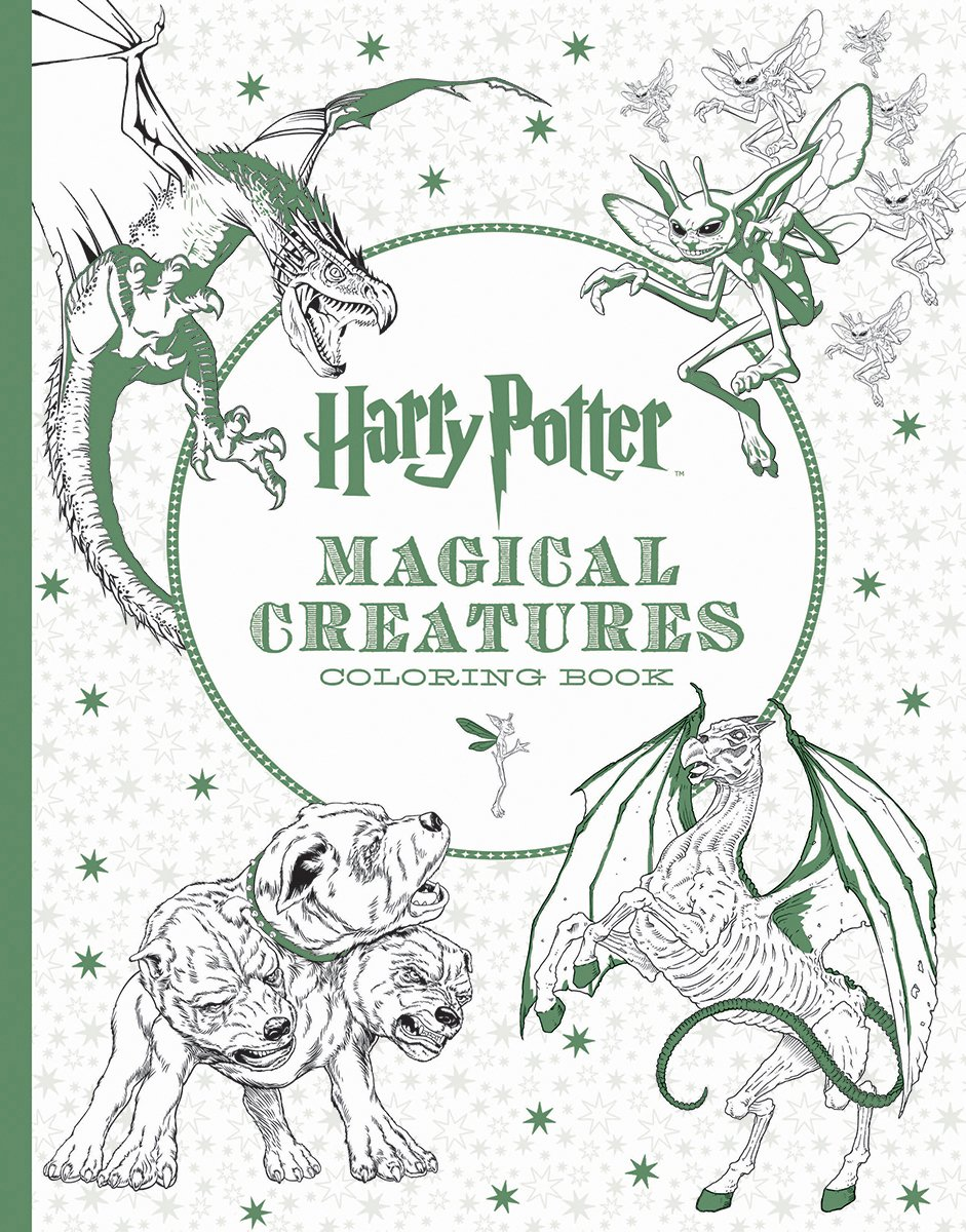 harry potter magical creatures coloring book scholastic 9781338030006 amazoncom books
