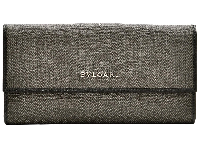 (ブルガリ) BVLGARI メンズ WEEKEND Wホック 二つ折り長財布 ダークグレー PVC レザー 32589 アウトレット ブランド 並行輸入品 B00VLSP65E
