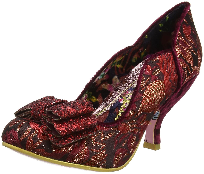 Irregular Choice Ladies First - Zapatos de Tacón con Punta Cerrada Mujer 42 EU|Rojo (Bordo A)